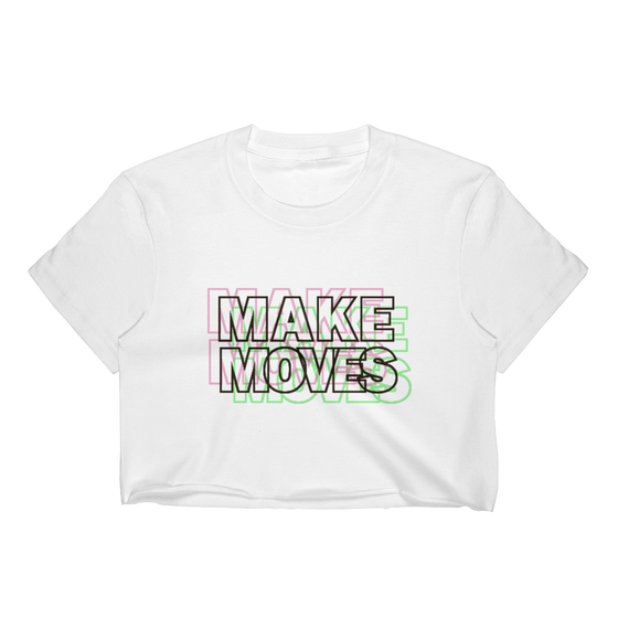 Image of MAKE MOVES WOMEN'S CROP TEE