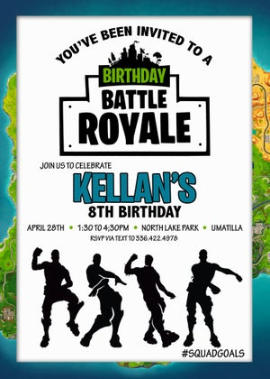 Image of Fortnite Birthday Invitations