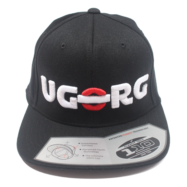 Image of UGORG Flex-Fit SnapBack (Black with White Logo)