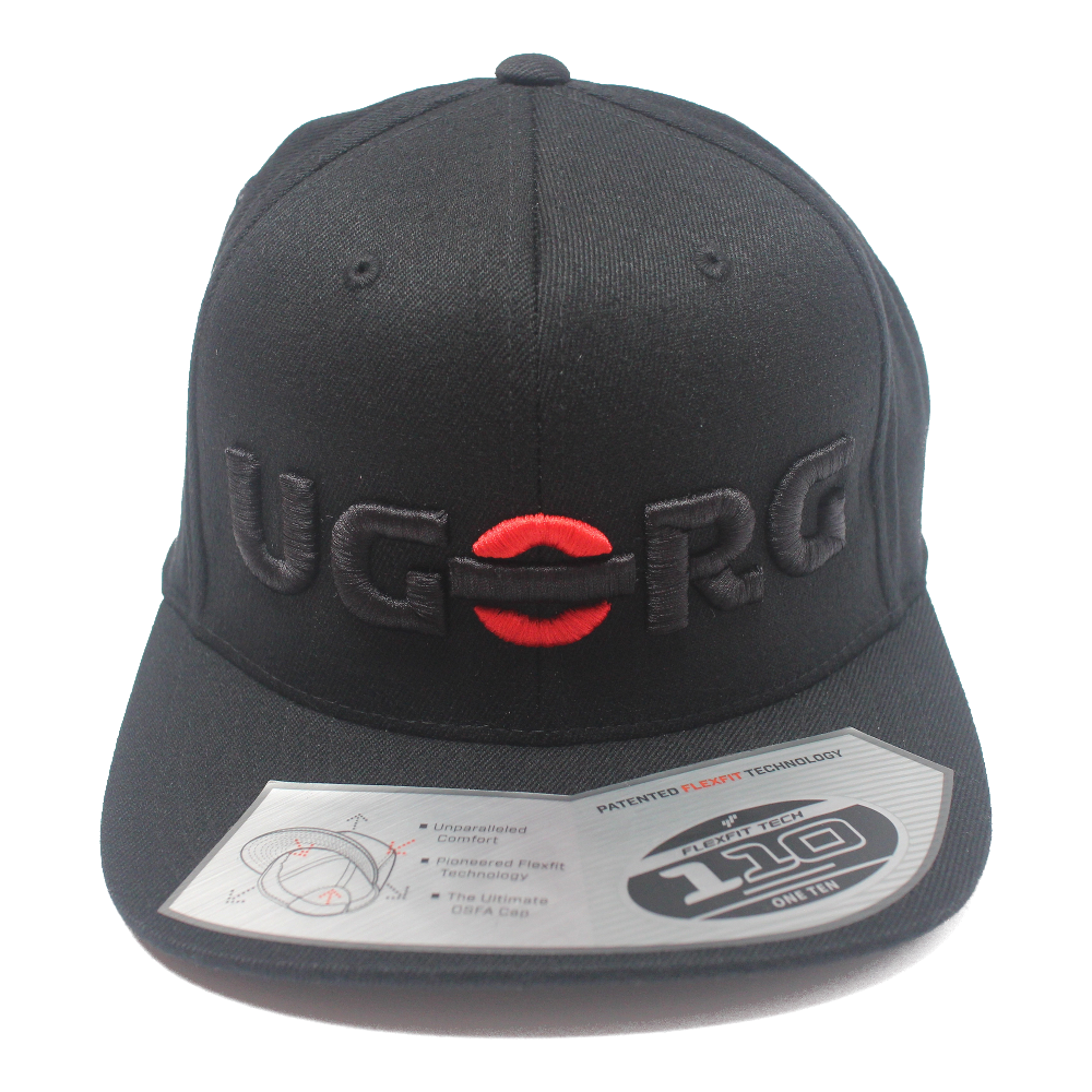 Image of UGORG Flex-Fit SnapBack (Black with Black Logo)