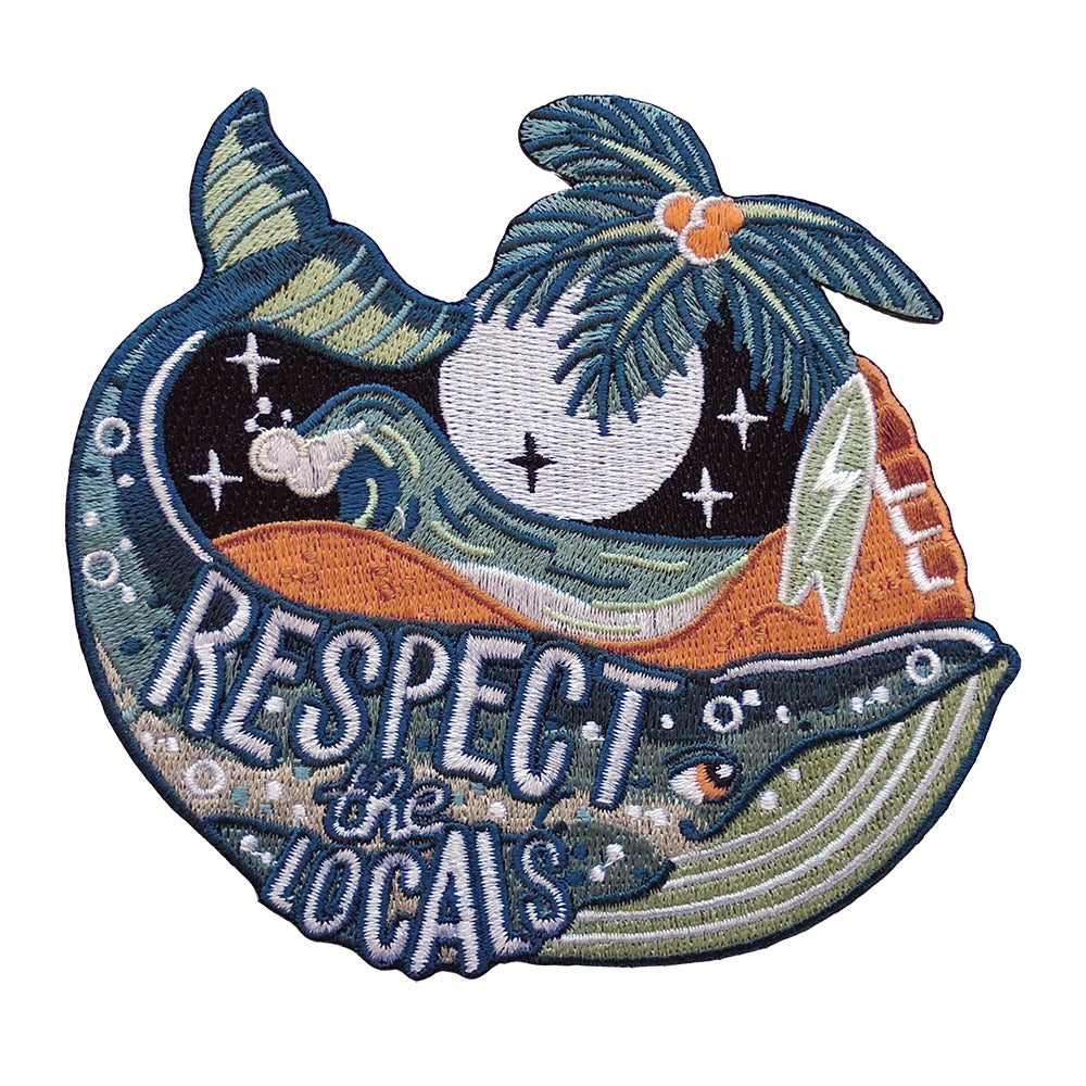 Image of Respect the locals whale patch