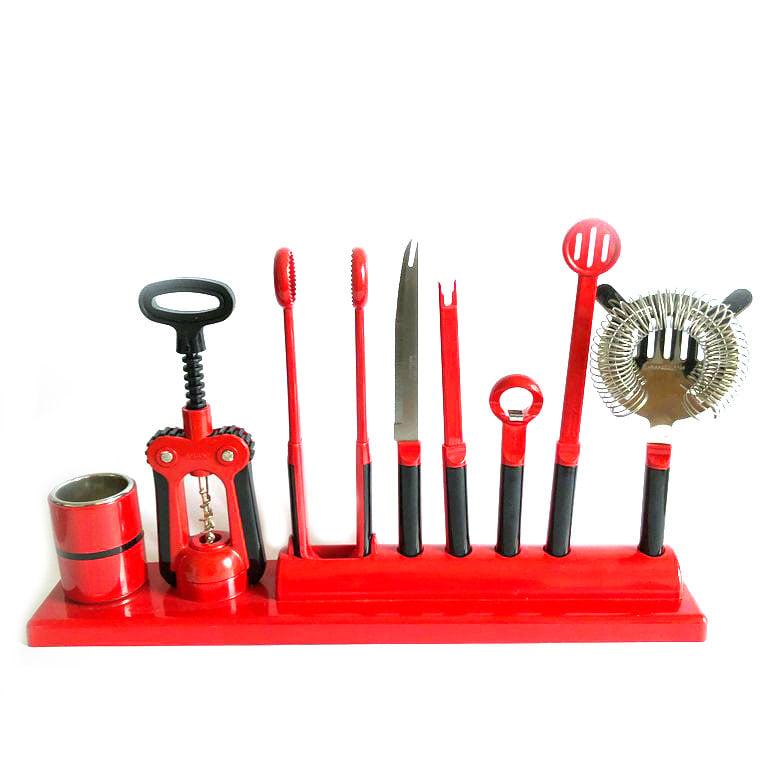 Image of Scaroni 8 Piece Bar Set - 70s
