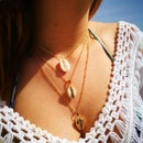 Image of NATURAL + DIPPED SHELL NECKLACE