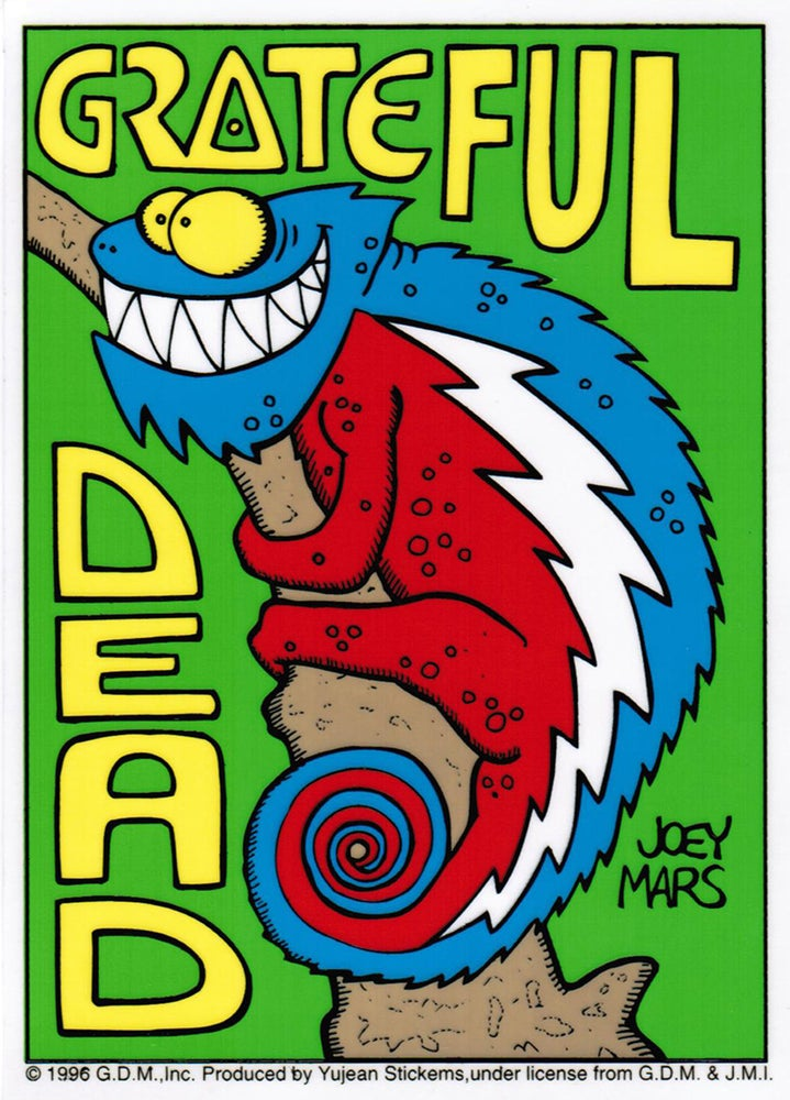 Image of Vintage 1996 Grateful Dead Steal Your Chameleon Sticker by Joey Mars