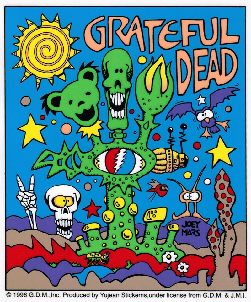 "Image of Vintage 1996 Grateful Dead ""Organic"" Sticker by Joey Mars"