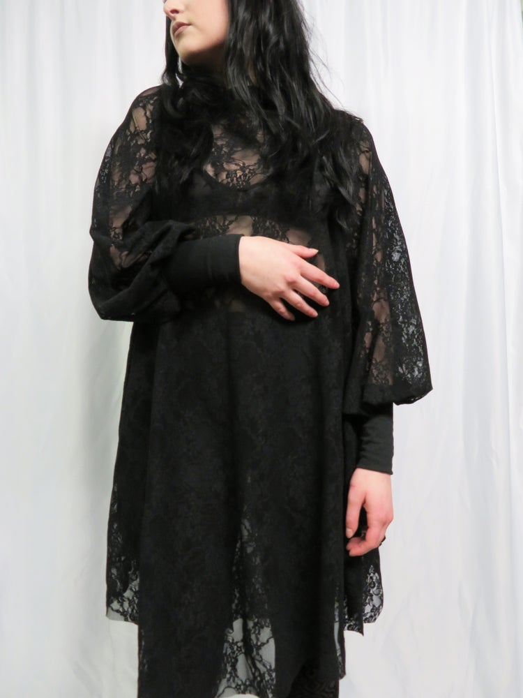 Image of Countess Lace Bishop Sleeve Dress