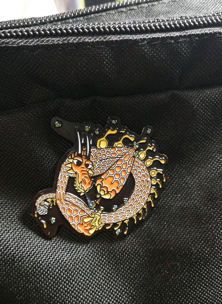 Image of Joe P Honey Dragon Lapel Pin, 1/50 [Limited Edition]