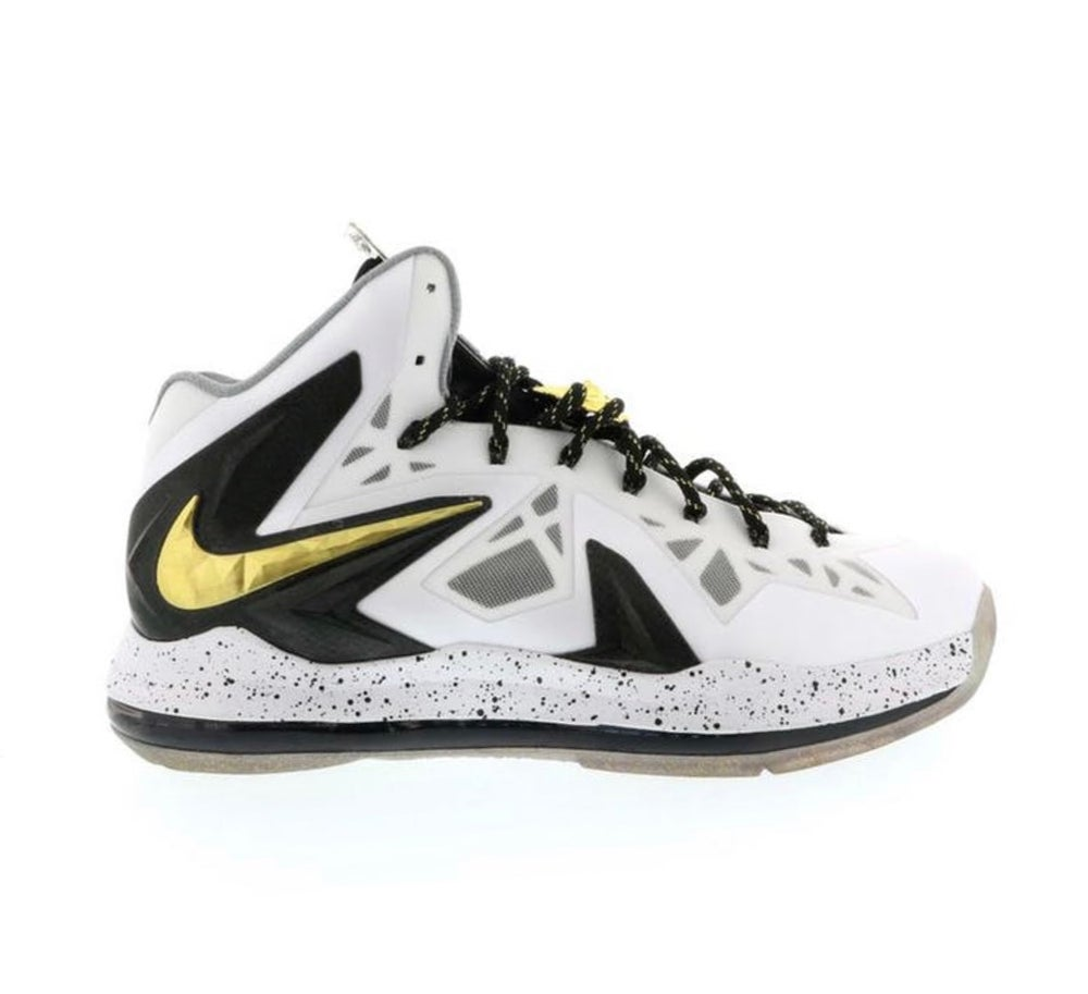 Image of Nike LeBron 10 Elite P.S. - White/Gold - Size 13