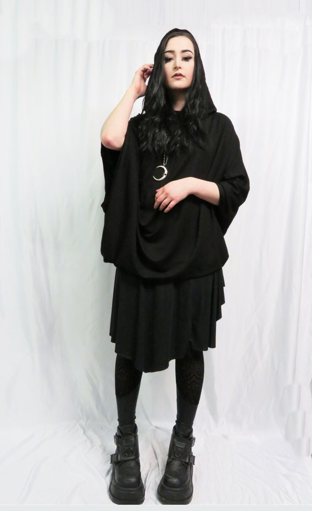 Image of Hooded Bat cape sweater