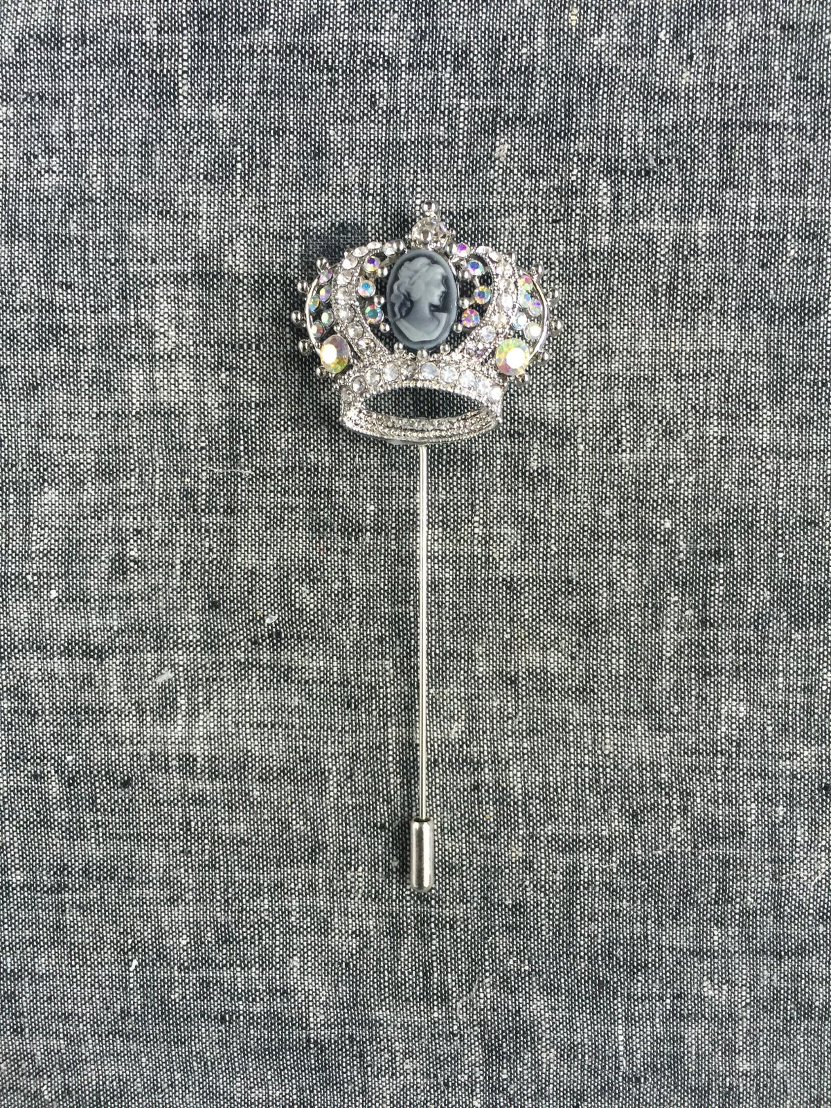 Image of The Crown Lapel Pin (silver)