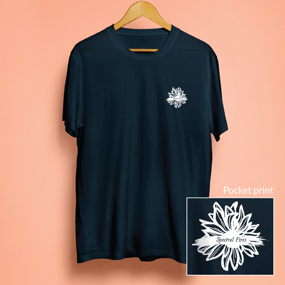 Image of Flower logo tee (navy)