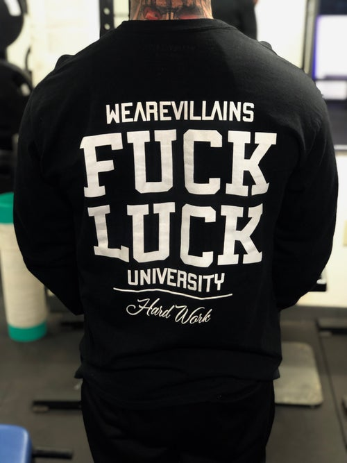 Image of Fuck Luck long sleeve black