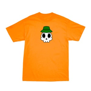 Image of ZERONI SKULL ORANGE TEE | CHILDHOOD HERO EXCLUSIVE RELEASE