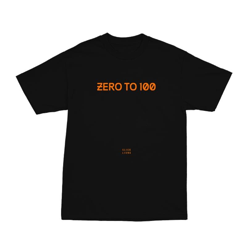 Image of ZERO TO 100 BLACK TEE | CHILDHOOD HERO EXCLUSIVE RELEASE