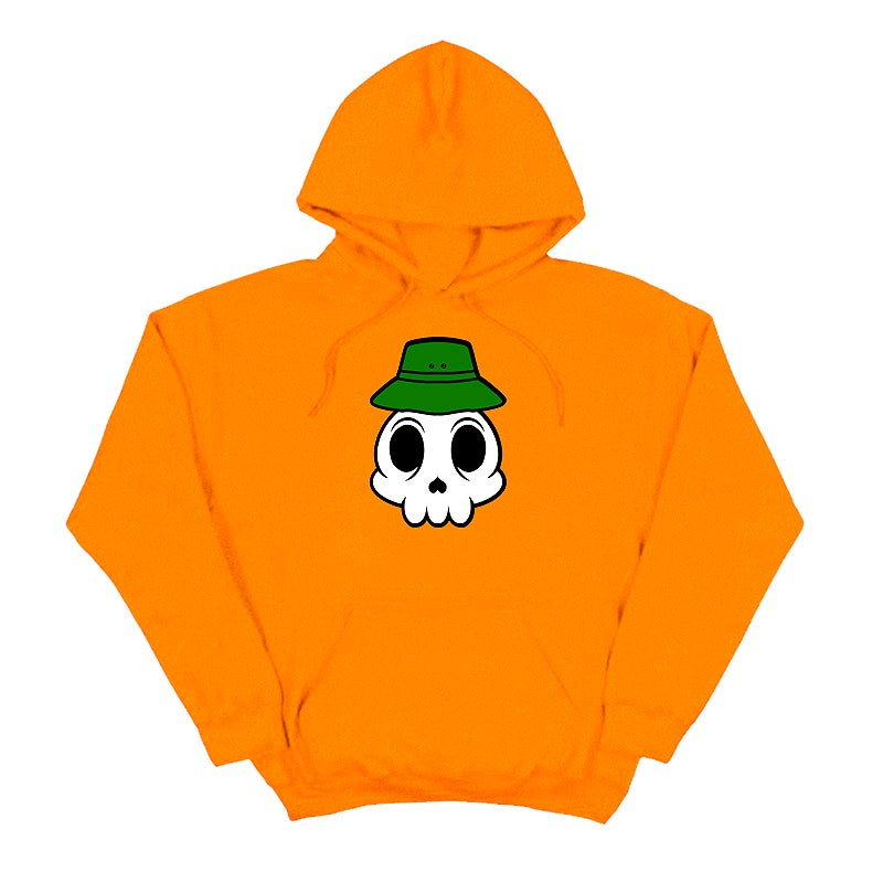 Image of ZERONI SKULL ORANGE HOODIE | CHILDHOOD HERO EXCLUSIVE RELEASE