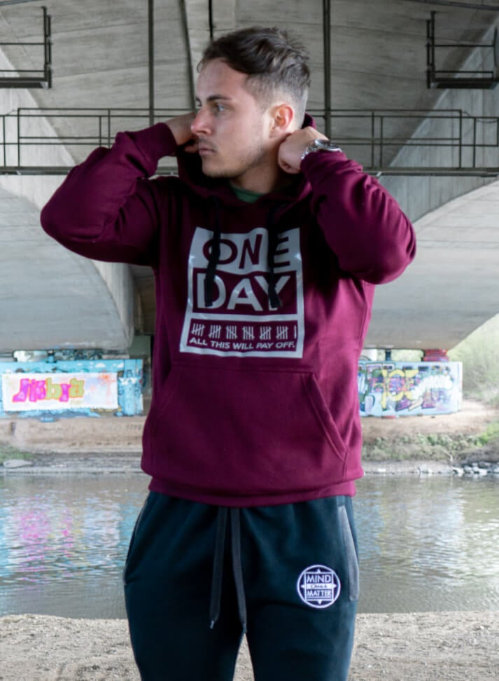 Image of OneDay Hoodie | Bordeaux
