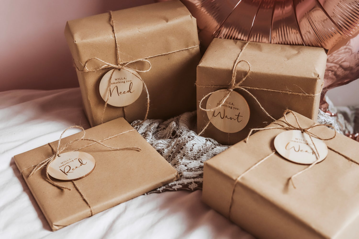 Image of Want, need, wear, read | Mindful gifting tags