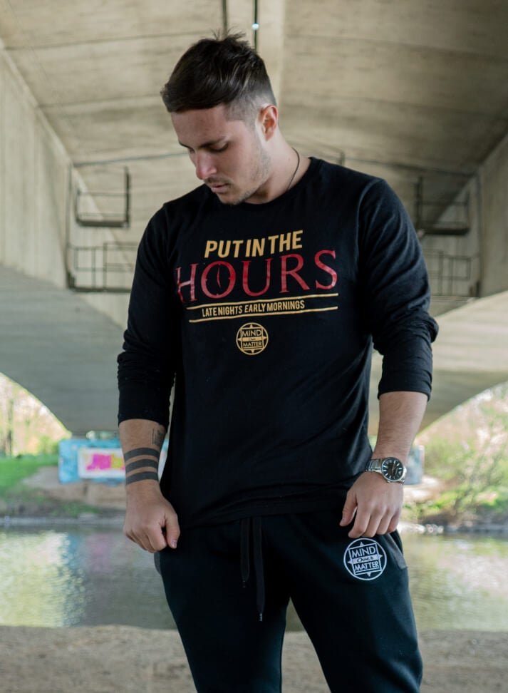 Image of Put In The Hours Longsleeve | Black