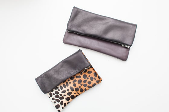 Image of IN PERSON Fold Over Zip Clutch Zoom Class: Supplies Included