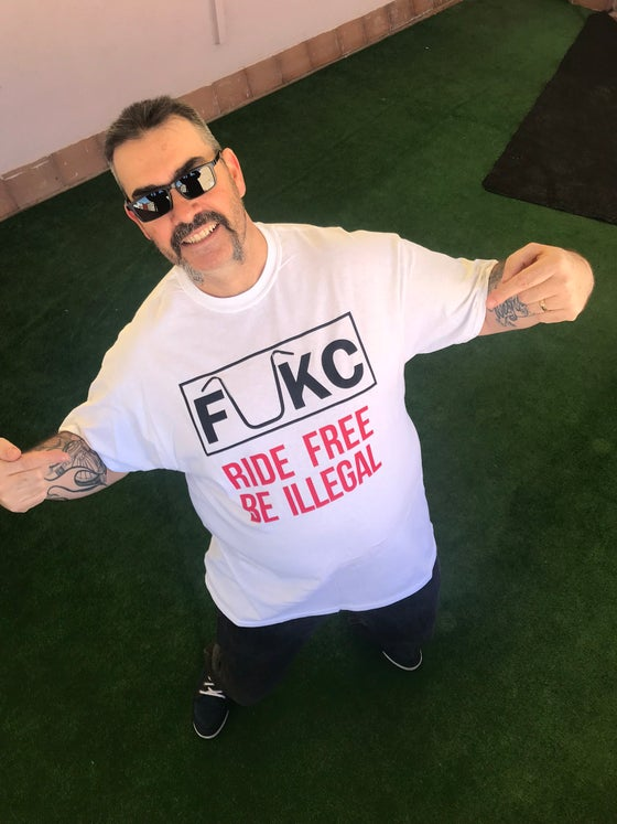 Image of RIDE FREE - BE ILLEGAL (WHITE)