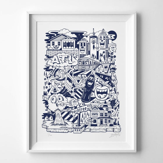 "Image of ""ON THE RISE"" PRINT (NAVY BLUE EDITION)"