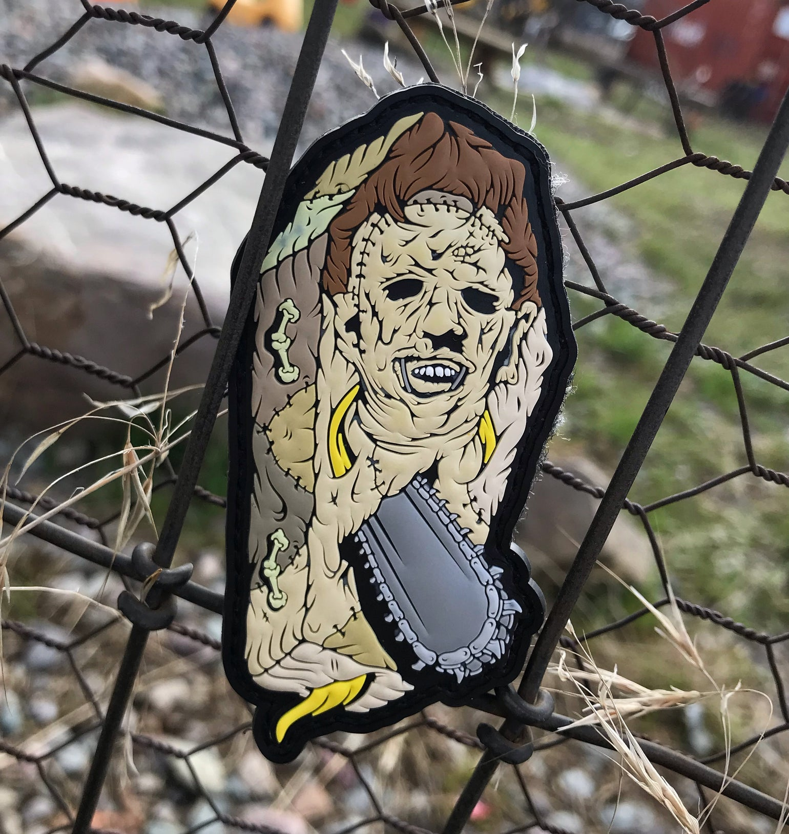 Image of Leatherface Killer Coffin patch
