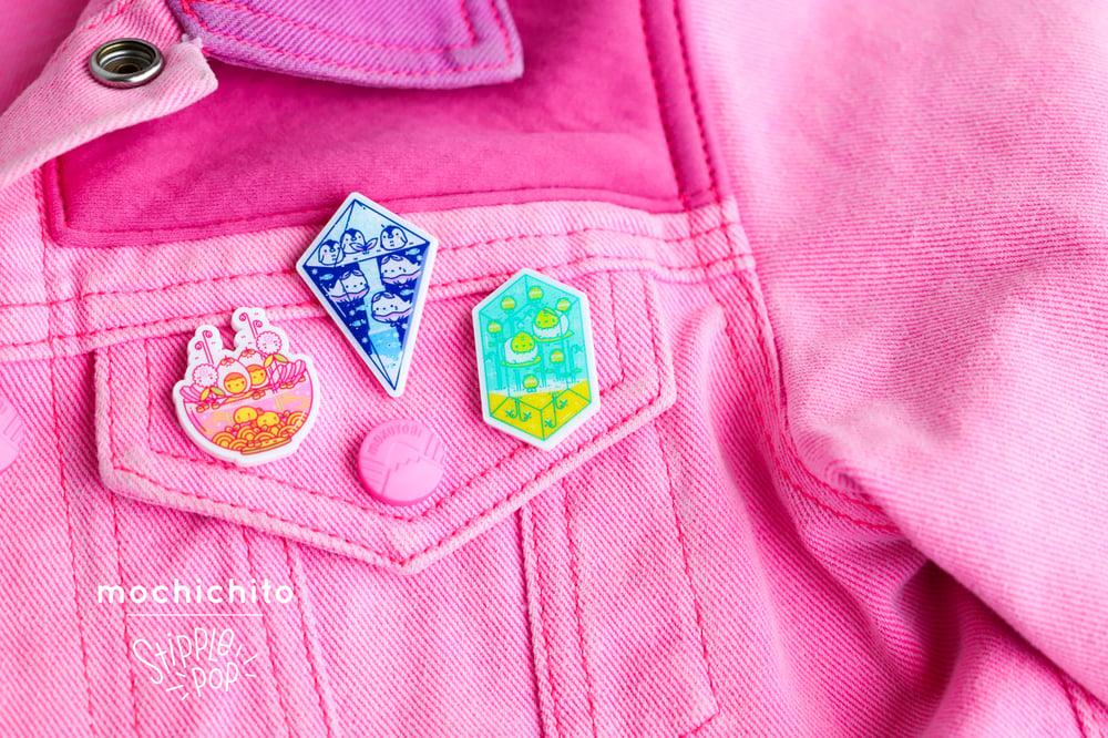 Mochichito Micro-glitter Terra Pins