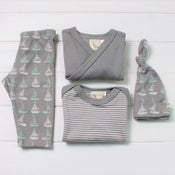 Image of Sailboats Organic Baby Clothing
