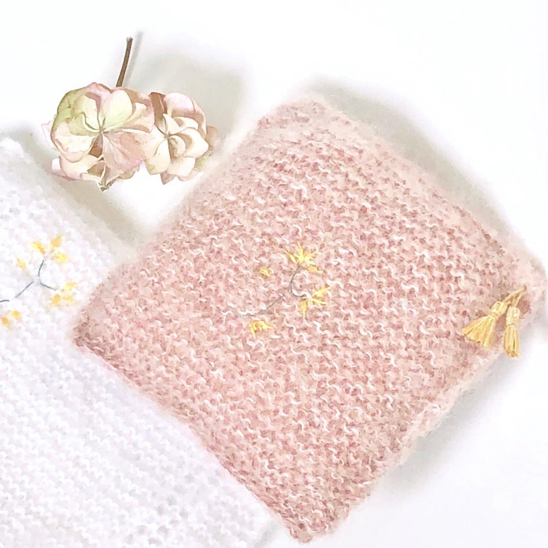 Image of Parure de lit bois de rose / blanc