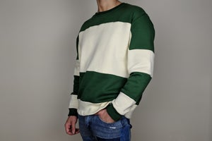 Image of Forest Green Blocked Sweater