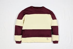 Image of Burgundy Blocked Sweater