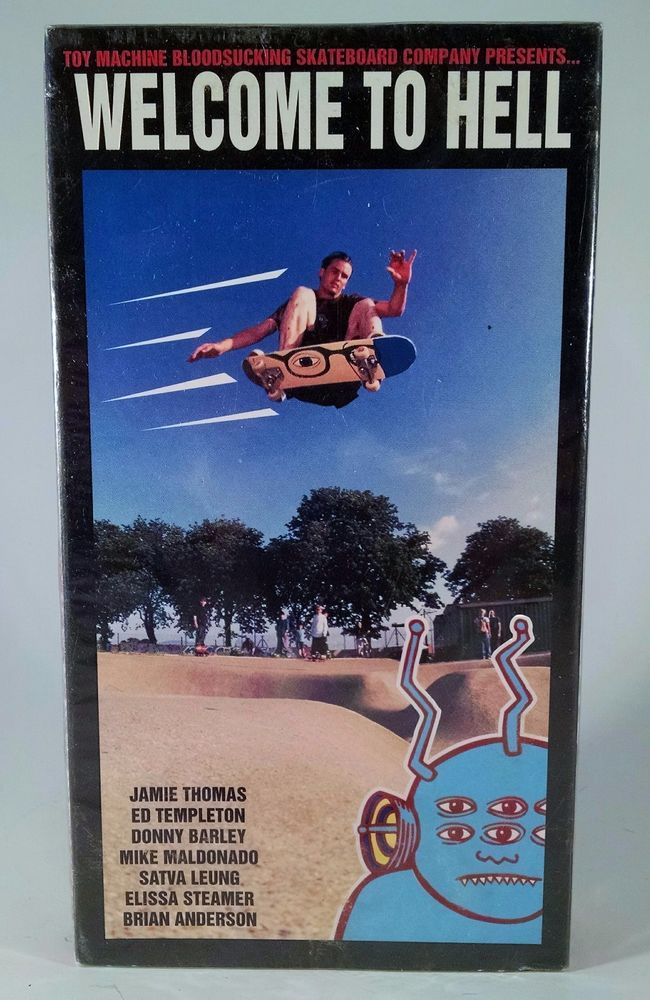 Image of Welcome To Hell print, Toy Machine video  Ed Templeton 1995 by Tobin Yelland