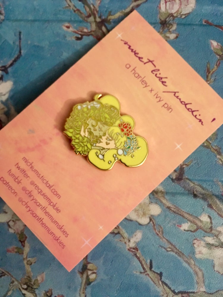 Image of sweet like puddin' - harley x ivy pin