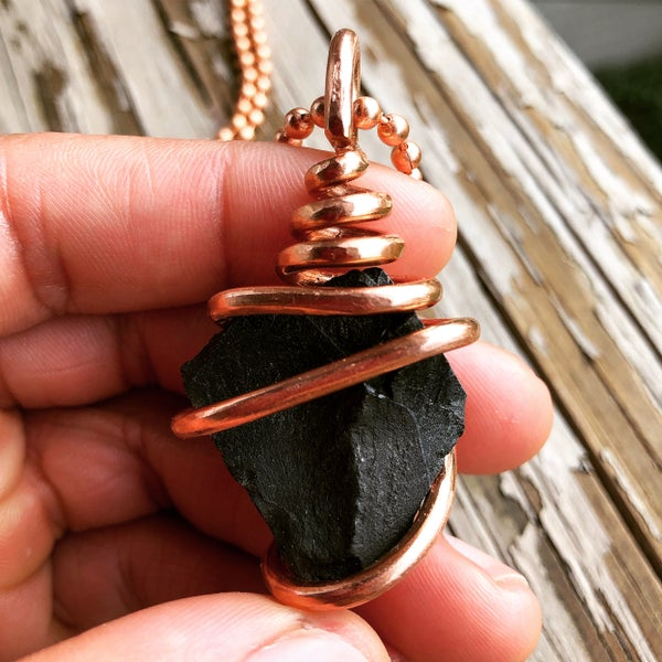 Image of Copper Wrapped Shungite