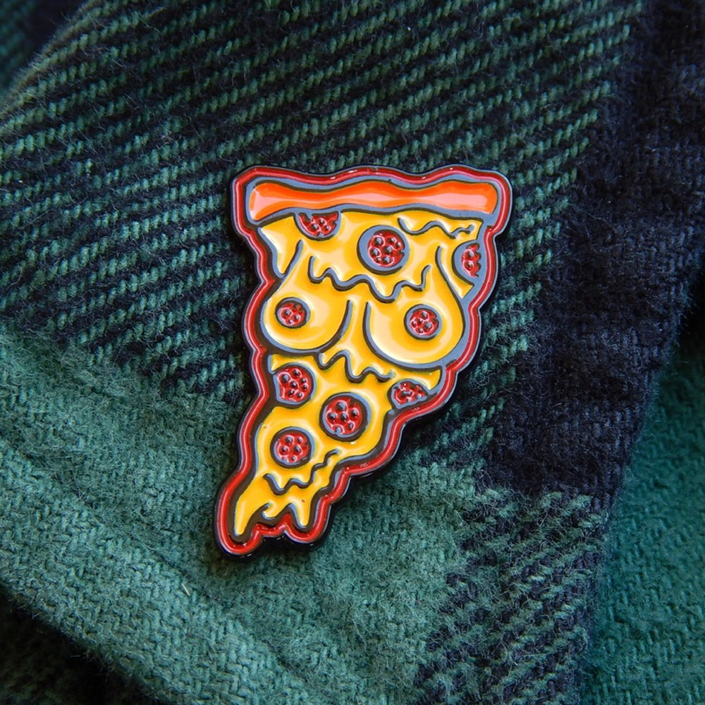 Image of Pizza Boobs Enamel Pin