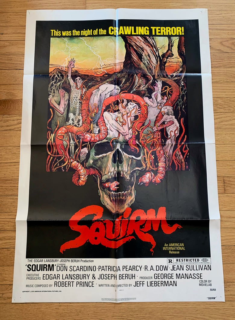 Image of 1976 SQUIRM Original U.S. One Sheet Movie Poster