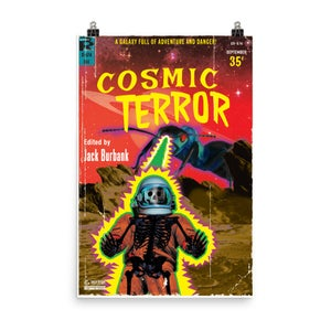 """Image of 12""""x18"""" Cosmic Terror Pulp Cover Poster"""