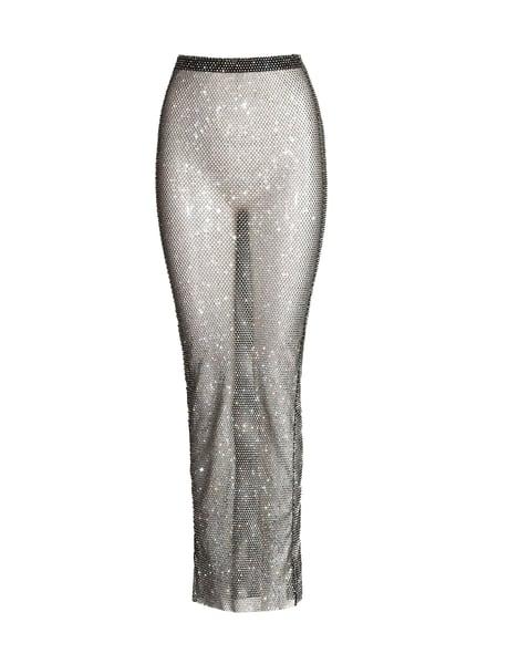 Image of Black Crystal Net Skirt