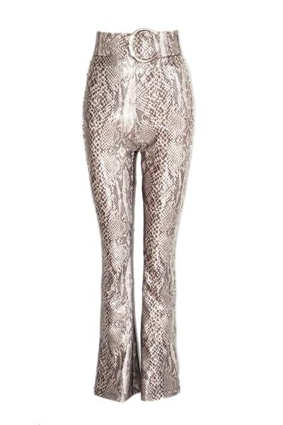 Image of Belted Snake Crystal Pants