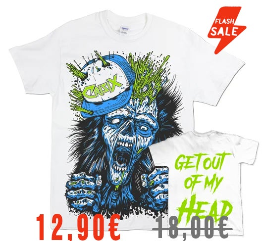 Image of 'Get Out Of My Head' White Tee