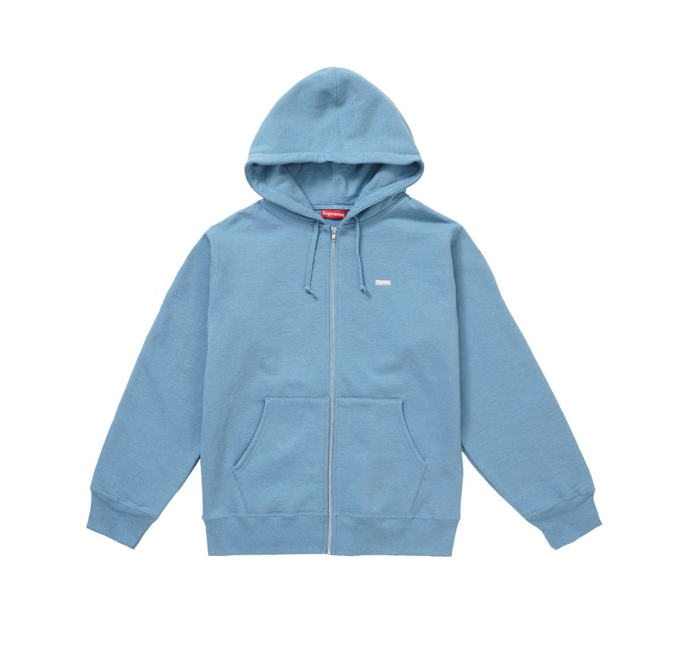 Image of Supreme Reflective Small Box ZIP Up Hoody - Dusty Blue - Size Medium