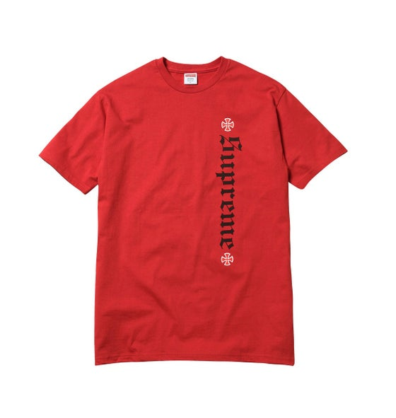 Image of Supreme x Independent Old English Tee - Red - Size Large