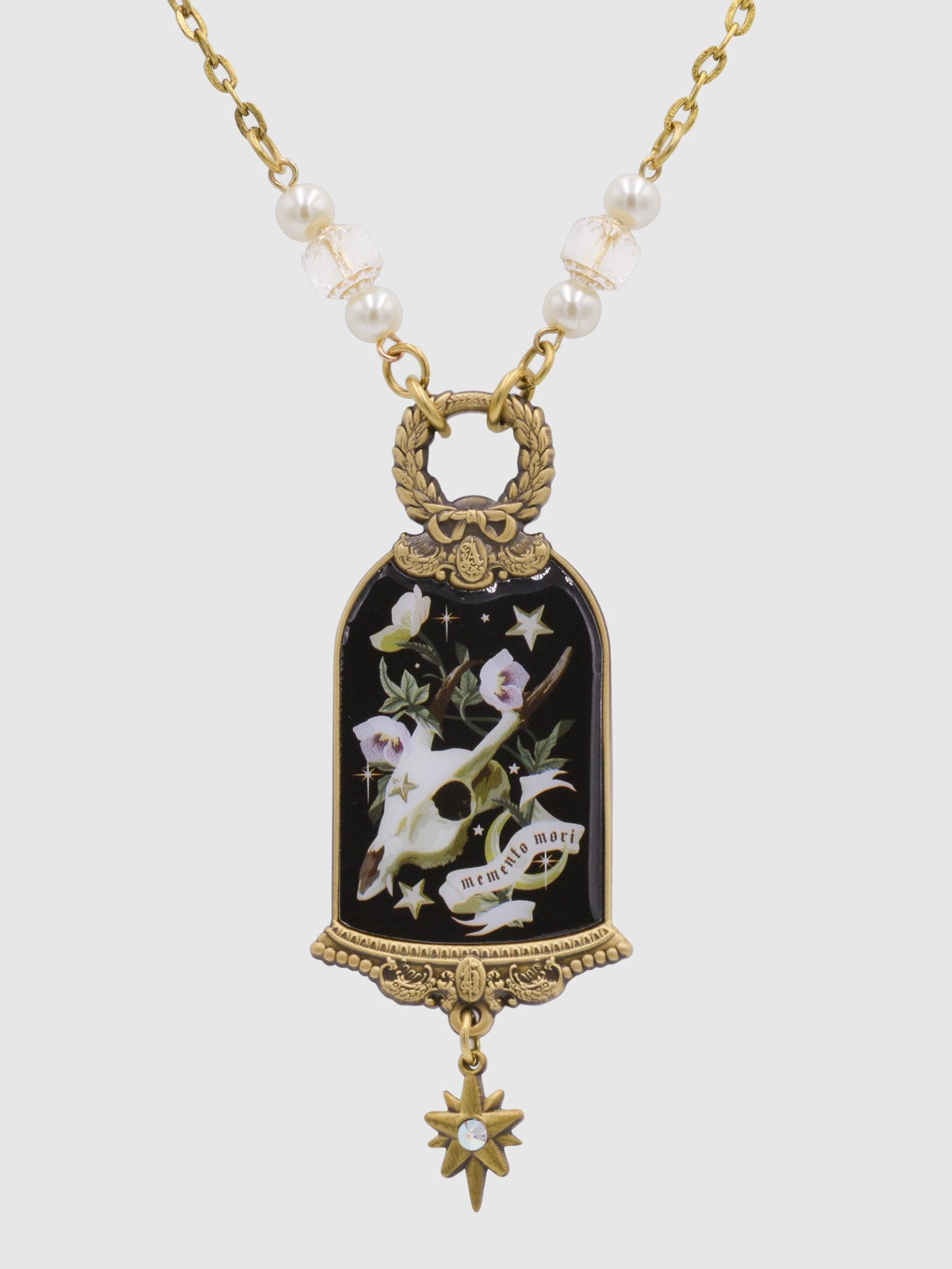 Image of PRE-ORDER Memento Mori Necklace • Black