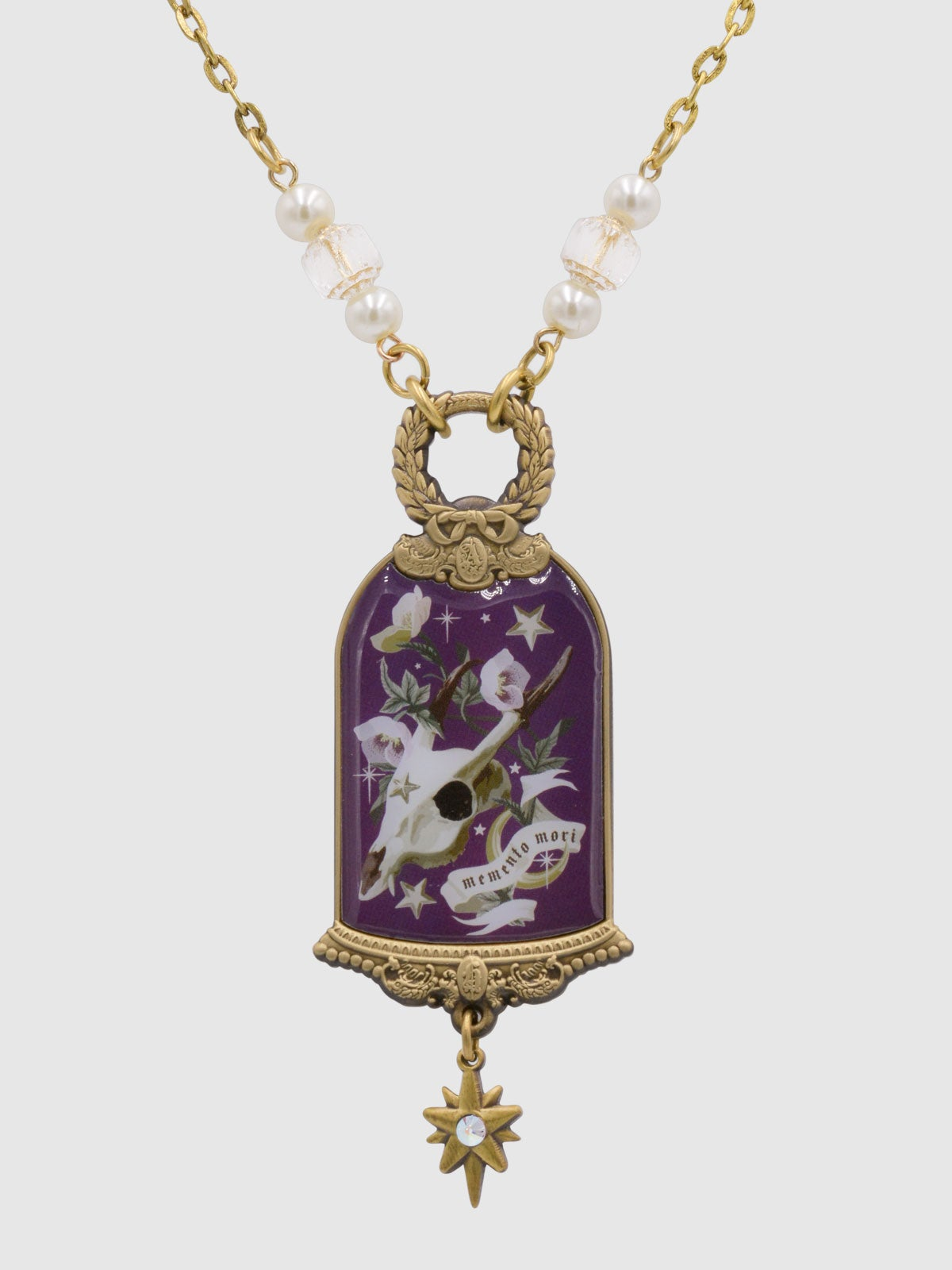 Image of PRE-ORDER Memento Mori Necklace • Plum