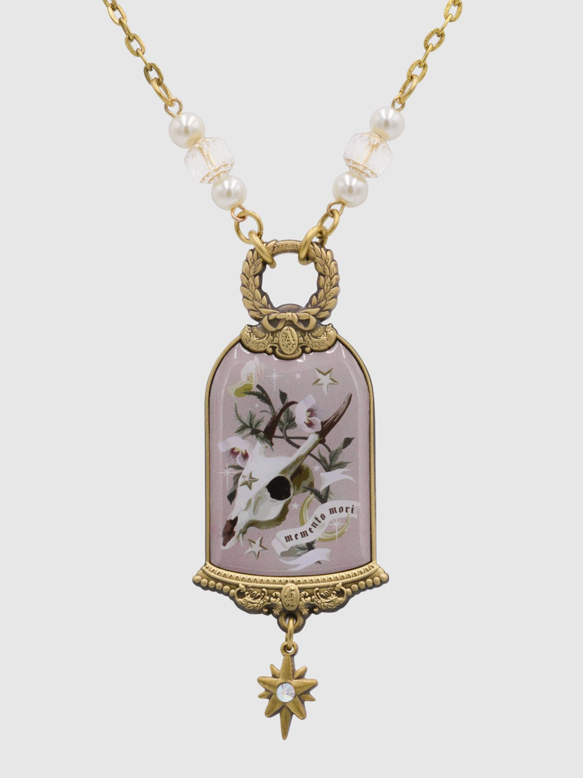 Image of PRE-ORDER Memento Mori Necklace • Mauve