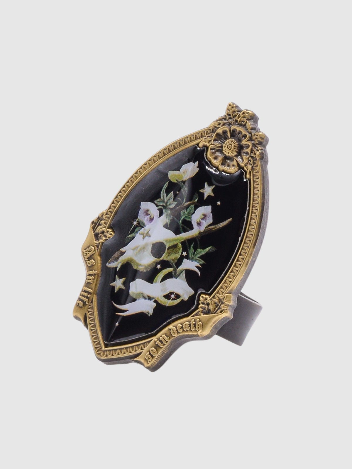 Image of Memento Mori Ring • Black