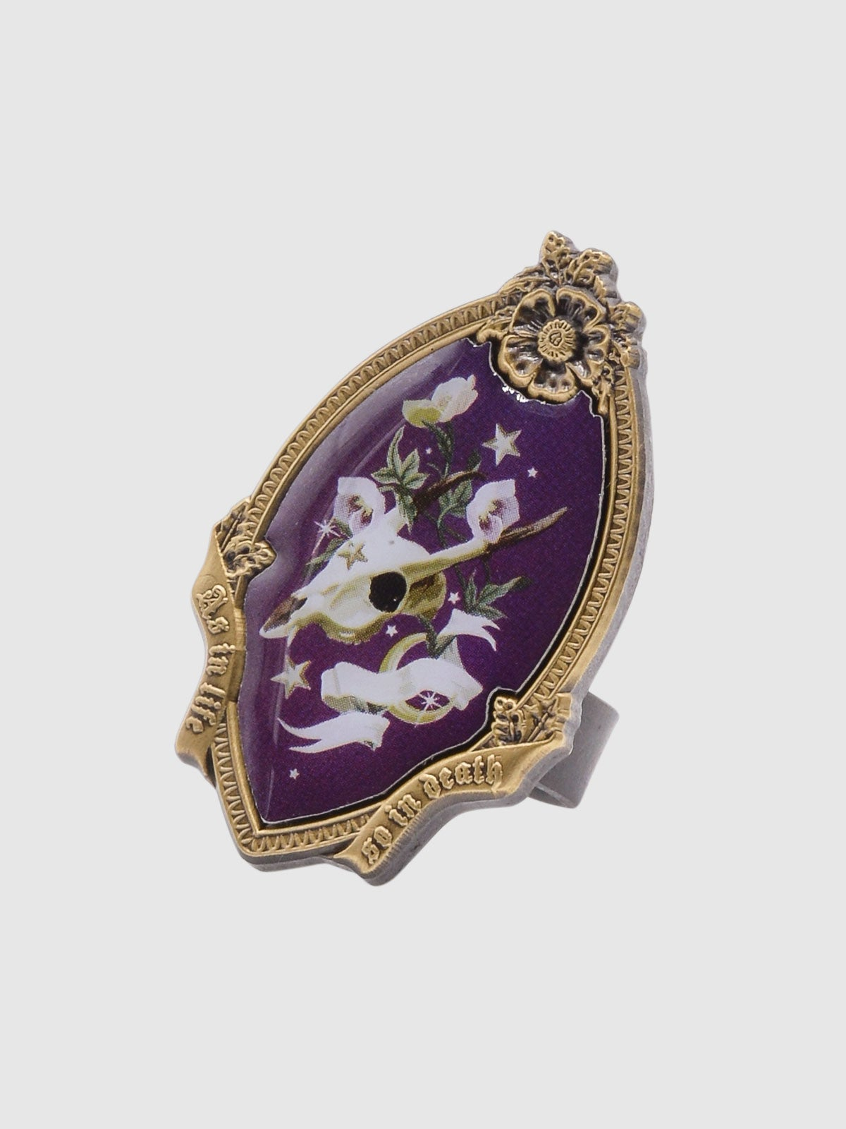 Image of Memento Mori Ring • Plum