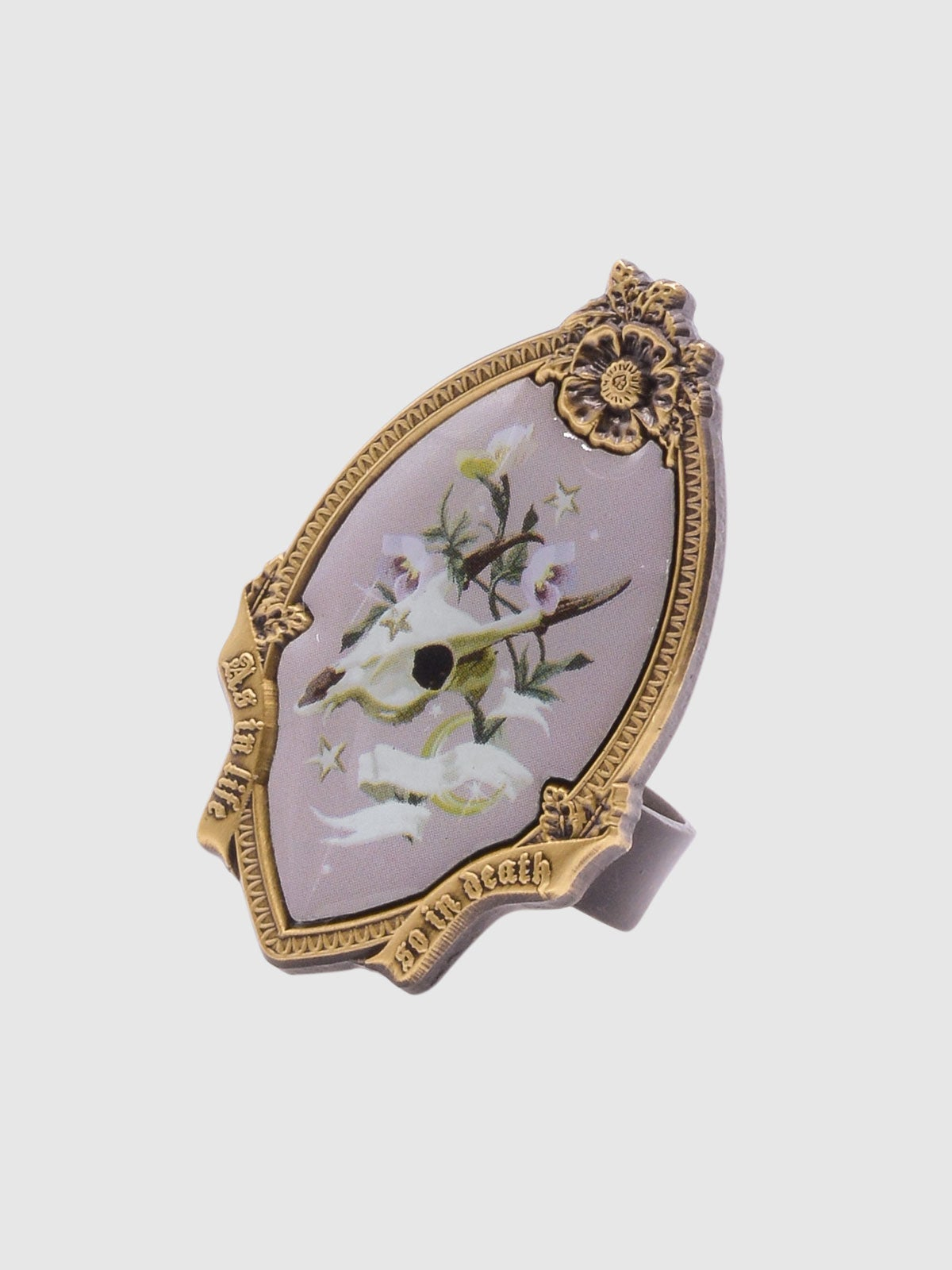 Image of Memento Mori Ring • Mauve