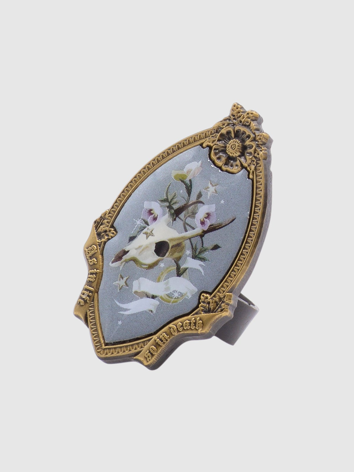 Image of PRE-ORDER Memento Mori Ring • Gray Blue