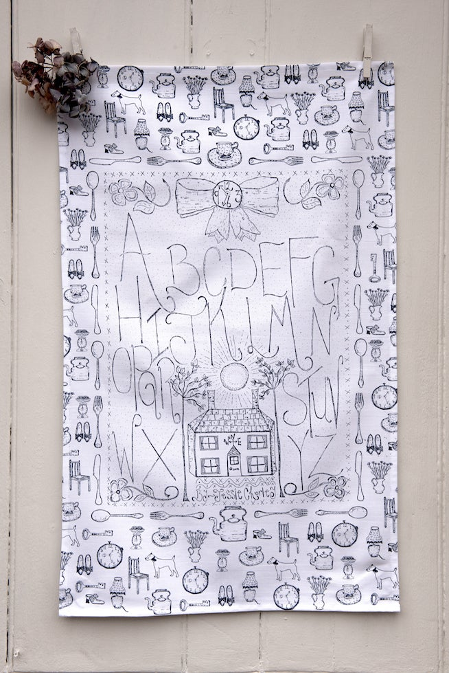 Image of 'Alphabet' tea towel